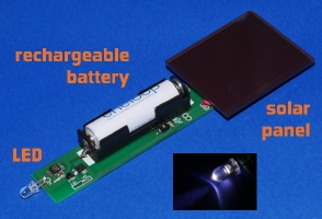 LED driver for solar lamps